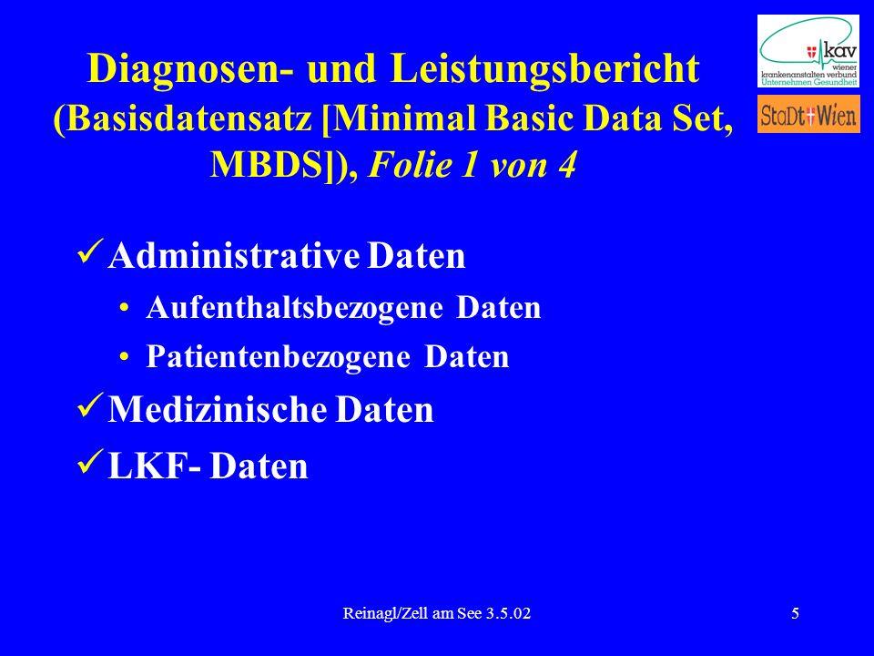Diagnosen- und Leistungsbericht (Basisdatensatz [Minimal Basic Data Set, MBDS]), Folie 1 von 4